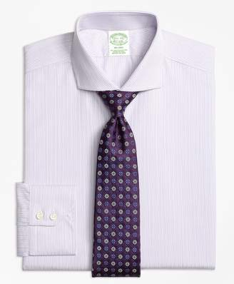 Brooks Brothers Milano Slim-Fit Dress Shirt, Alternating Framed Stripe