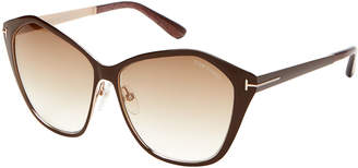 Tom Ford TF391 Brown Lena XL Butterfly Sunglasses