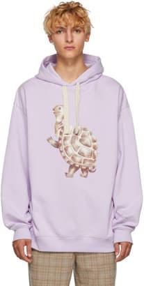 Acne Studios Purple Turtle Fala Hoodie