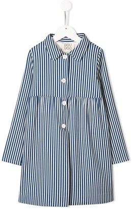 Douuod Kids striped trench coat