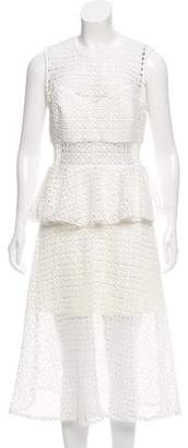 Self-Portrait Crochet Peplum Dress w/ Tags