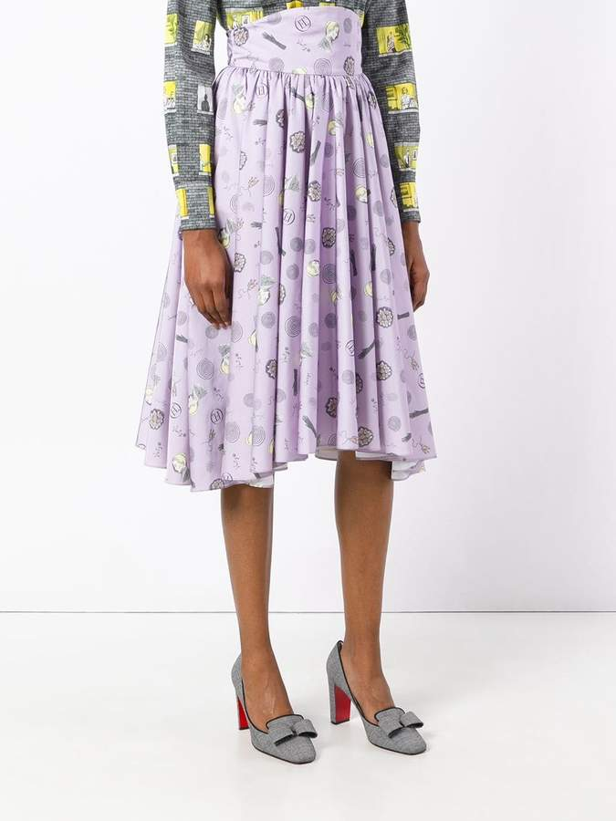 Olympia Le-Tan Frances printed skirt
