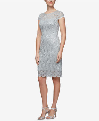 Alex Evenings Petite Lace Sheath Dress