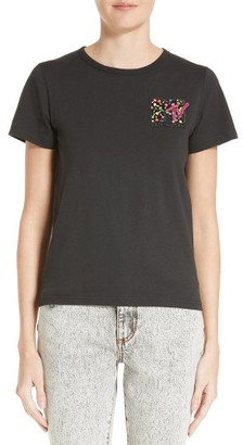 Women's Marc Jacobs X Mtv Embroidered Logo Tee $195 thestylecure.com