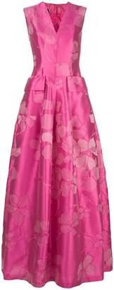 Talbot Runhof floral jacquard full dress