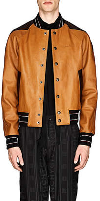 Givenchy Men's Leather Baseball Jacket - Brown