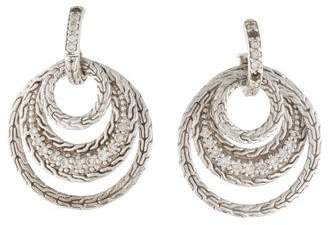 John Hardy Diamond Langit Circle Drop Earrings