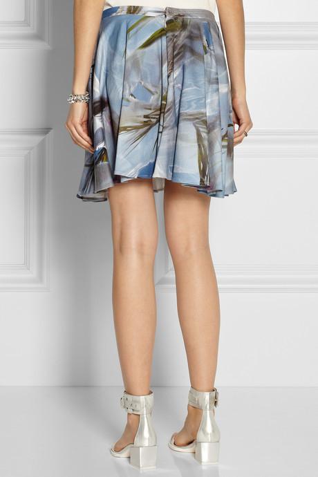 Chalayan Floral-print cotton-terry skirt