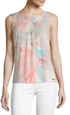 Calvin Klein Printed Sleeveless Camisole