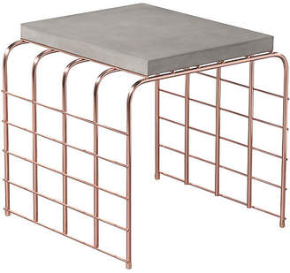 Mesh-Link Outdoor Side Table - Slate Gray - Seasonal Living