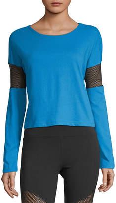 Flirtitude Womens Round Neck Long Sleeve T-Shirt Juniors