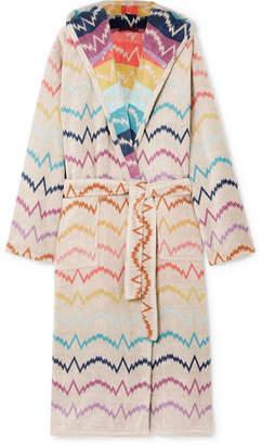 Missoni Home Vera Hooded Cotton-terry Robe - Cream