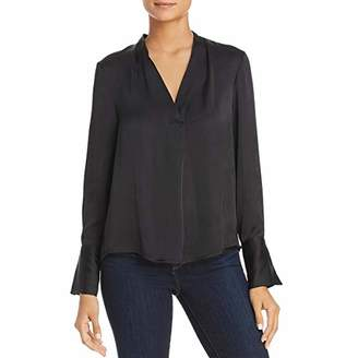 Kenneth Cole Women's V-Neck Long Sleeve Blouse
