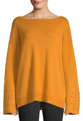 MICHAEL Michael Kors Dropped-Shoulder Studded Sweater