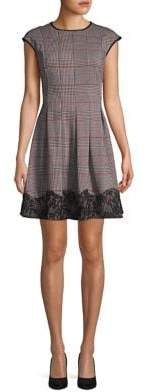 Gabby Skye Plaid A-Line Dress