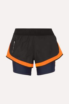 P.E Nation Cadence Shell And Stretch Shorts - Black