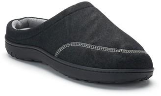 a8d0188dc18d Isotoner Men s Chandler Knit Twill Hoodback Clog Slippers