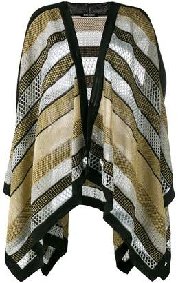 Balmain knitted cape