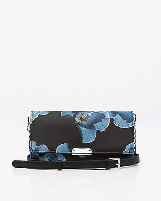 Le Château Floral Print Wallet with Crossbody Strap