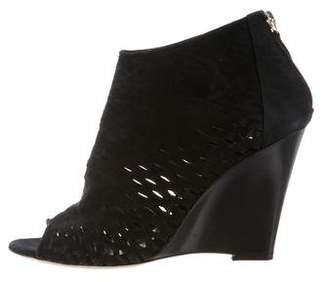 Aquatalia Suede Wedge Ankle Boots