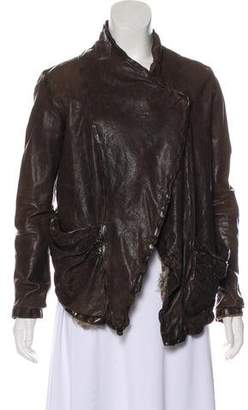 Giorgio Brato Distressed Leather Jacket