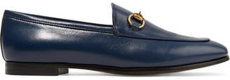 Gucci Jordaan Horsebit-detailed Leather Loafers - Navy