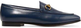 Gucci Jordaan Horsebit-detailed Leather Loafers - Navy