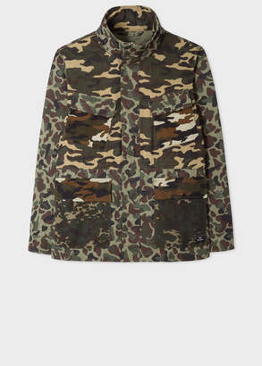 Paul Smith Men's 'Fox Camouflage' Print Cotton Field Jacket