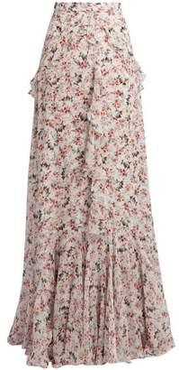 Erdem Alison Floral Print Silk Voile Maxi Skirt - Womens - Multi