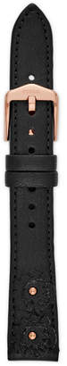 Fossil 16mm Black Leather Strap