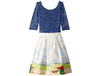 Wanderlust fiveloaves twofish Horse Rider Dress (Big Kids)