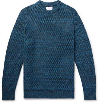 Richard James Honeycomb-Knit Mélange Wool Sweater