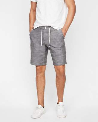 Express Rolled Hem Stripe Lined Drawstring Shorts