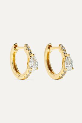 Anita Ko Huggies 18-karat Gold Diamond Earrings