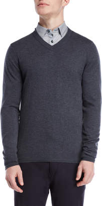 Ted Baker Long Sleeve V-Neck Sweater
