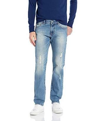 Armani Exchange A|X Men's Straight Leg Cotton Spandex Distressed Jeans