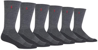 Polo Ralph Lauren Men's Big & Tall 6-Pk. Athletic Crew Socks