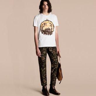 Burberry Wallpaper Print Cotton T-Shirt $295 thestylecure.com