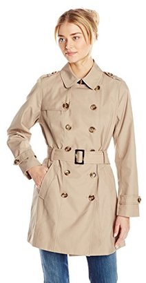 Jones New York Women's Double-Breasted Trench Coat $71.30 thestylecure.com