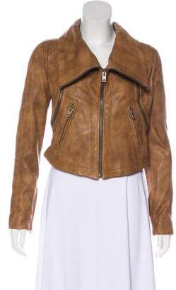 Yigal Azrouel Leather Distressed Convertible Jacket w/ Tags