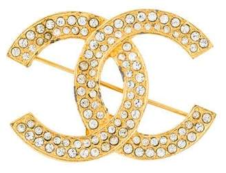 Chanel Crystal CC Brooch