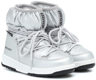 Moon Boot Kids Metallic snow boots