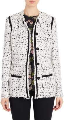 Giambattista Valli Black and White Tweed Jacket
