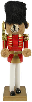 Northlight 14.25In Red & Gold Wooden Christmas Nutcracker Bear Soldier