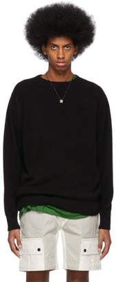 The Elder Statesman Black Cashmere Patch Sweater