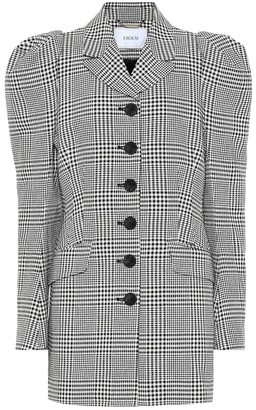 Erdem Alfreda checked cotton-blend blazer