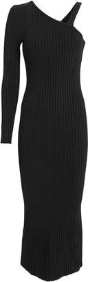 The Range Ribbed Slanted Midi Dress