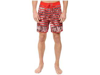 The North Face Whitecap Boardshorts - Short (Fiery Red Moss Stripe