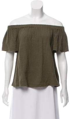 Rebecca Taylor Short Sleeve Pleated Top
