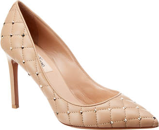 Valentino Rockstud Spike 90 Leather Pump